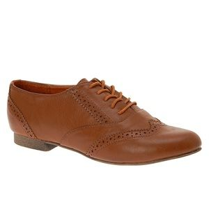 LAST CHANCE ⚡️Brown vegan leather lace up oxfords
